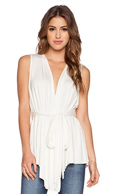 Rachel Pally Sleeveless Rollo Top in White