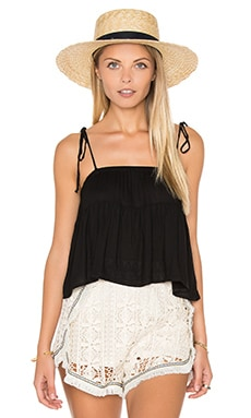 Rachel Pally Crepe Kaiyo Top in Black