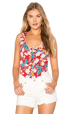 Sleeveless Nedda Bodysuit in Tropic Print