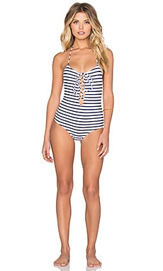 La Jolla Swimsuit en Rayures Atlantique
