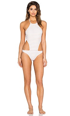 Rachel Pally Stinson Swimsuit in Bamboo Stripe