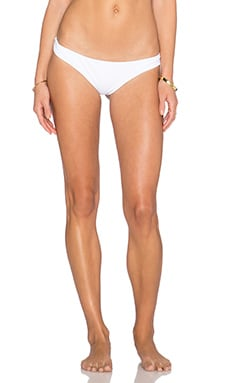 Rachel Pally Skimpy Zanzibar Reversible Bikini Bottom in White