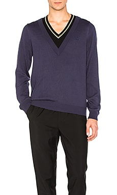 Double Layer V Neck Sweater