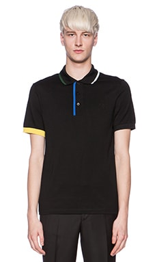 Fred Perry x Raf Simons Fred Perry Shirt with Contrast Tipping in Soho Black