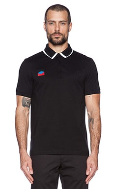 Fred Perry x Raf Simons Detachable Collar Fred Perry Shirt in Soho Black
