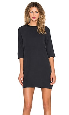 rag & bone/JEAN Austin Dress in Washed Black Silk