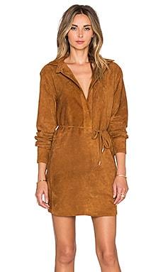 rag & bone/JEAN Leeds Dress in Brown Suede