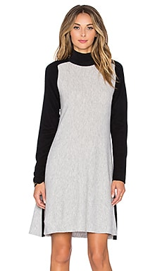 Francine Sweater Dress in Light Heather Grey