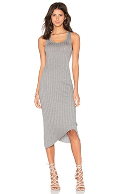 rag & bone/JEAN Tri Rib Dress in Heather Grey