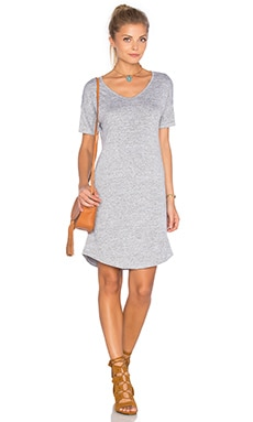 Melrose Dress in Light Heather Grey