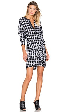 Tie Dress – Black & Grey Heather