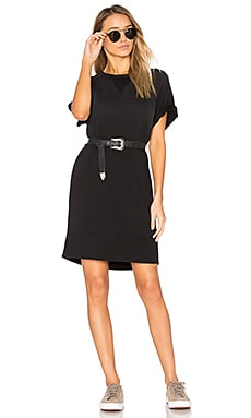 Washed Terry Dress en Noir
