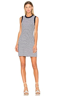 Lindsay Stripe Dress in Navy & White