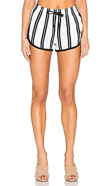 rag & bone/JEAN Beach Short in White Stripe