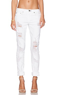 rag & bone/JEAN The Dre Boyfriend in Rebel Bright White
