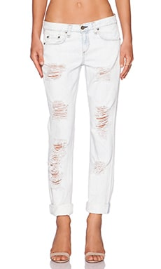 rag & bone/JEAN Boyfriend Jean in Rebel Bleachout
