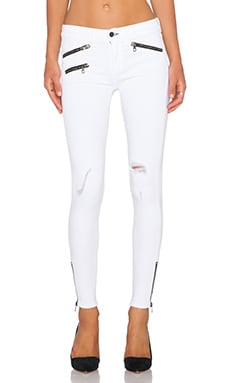 rag & bone/JEAN RBW 23 Crop in Bright White Distressed