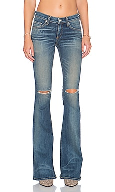 rag & bone/JEAN Mid Rise Bell Bottom in Clean Little Five