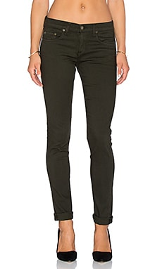 rag & bone/JEAN The Dre Slim Boyfriend in Aged Dark Olive