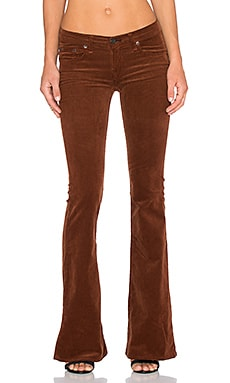 rag & bone/JEAN Mid Rise Bell Bottom in Cognac