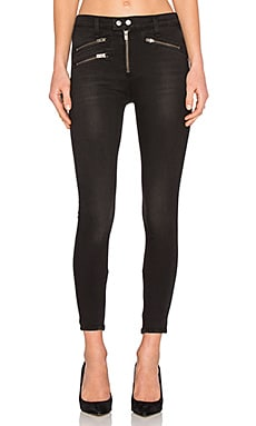 rag & bone/JEAN High Rise Biker Jean in Metal