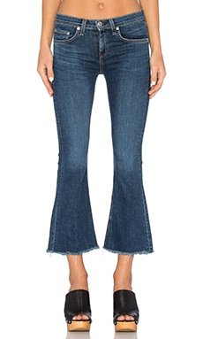 rag & bone/JEAN Crop Flare in Paz