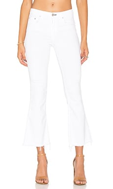 rag & bone/JEAN Crop Flare in Bright White