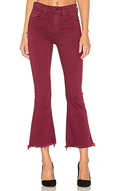 Crop Flare en Distressed Plum
