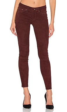 Skinny Suede Pants in Port Suede