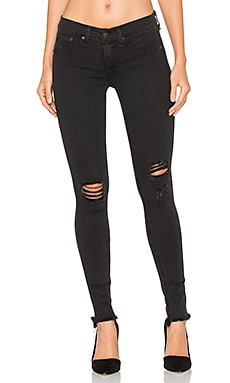 Legging in Night Distressed