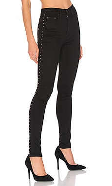 Dive Jean in Studded Black