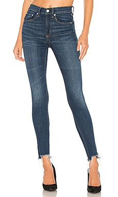 High Rise Ankle Skinny rag & bone/JEAN $250