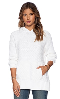 rag & bone/JEAN Addie Hoodie Pullover in White