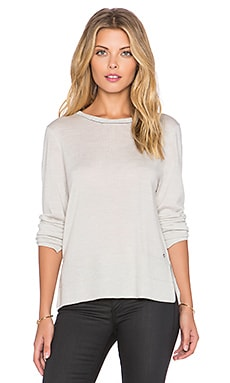 rag & bone/JEAN Leanna Crew Neck Sweater in Light Grey