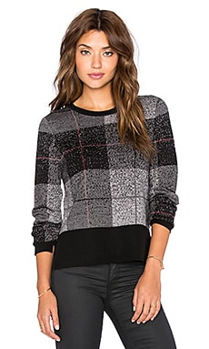 rag & bone/JEAN Tegan Crew Neck Sweater in Black