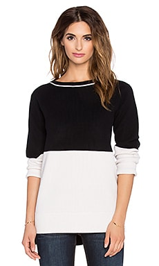 rag & bone/JEAN Pamela Stripe Sweater in Black
