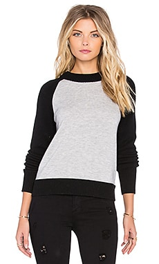 rag & bone/JEAN Amelia Zip Back Sweater in Light Grey