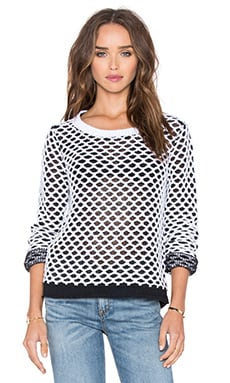 rag & bone/JEAN Taryn Pullover in Black & White