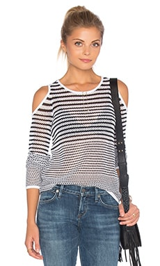 rag & bone/JEAN Quinn Sweater in White & Black