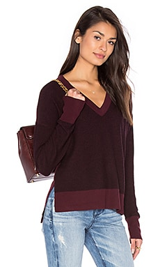 Taylor V-Neck Pullover in Port