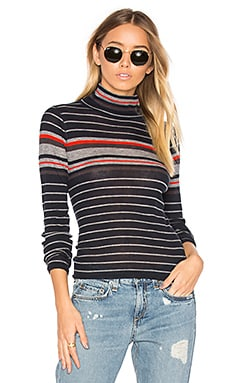 Rib Turtleneck Sweater in Salute Stripe