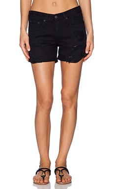 rag & bone/JEAN Boyfriend Short in Black Rebel