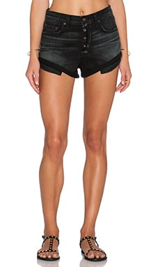 rag & bone/JEAN Marilyn Fly Short in Black Hawk