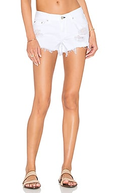 Cut Off Short in White Marin