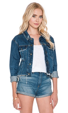 rag & bone/JEAN Crop Boyfriend Jacket in La Paz
