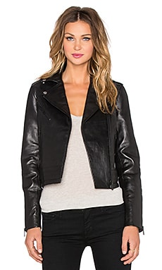 rag & bone/JEAN Chrystie Leather Jacket in Black