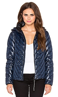 rag & bone/JEAN Chevron Puffer Jacket in Navy