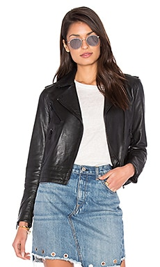 Mercer Leather Jacket in Black