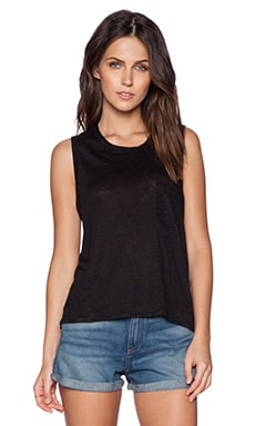 rag & bone/JEAN Deal Pocket Tank in Caviar