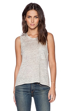 rag & bone/JEAN Deal Pocket Tank in Fog